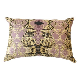 Unique Purple and Gold Pillows - Pair