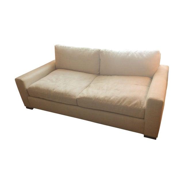 restoration hardware maxwell upholstered sofa chairish