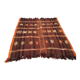Vintage Turkish Kilim Rug - 6′ × 6′5″