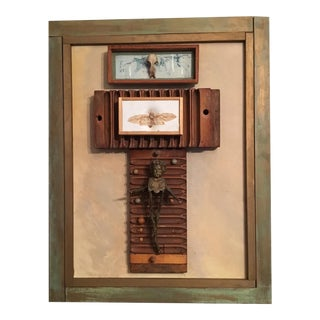"Artist Carol V Levy Found Object ""Assemblage"" Artwork"