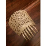 Image of 1910s Antique Pierced Hair Comb