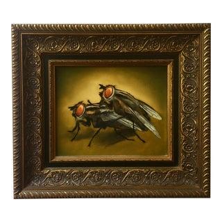 Oil Painting of Flies