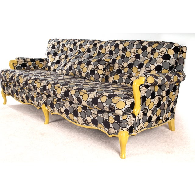 Vintage Sofa in Yellow - Image 3 of 6