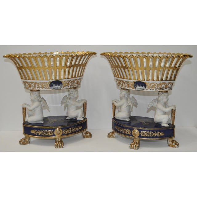 Early 20th Century Porcelain Planters - Pair - Image 2 of 10