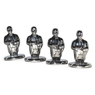Lenox Chrome Little Butler Place Name Holders - S/4