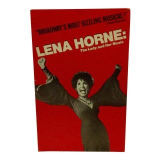 """Vintage Broadway Musical Poster """"Lena Horne"""""""