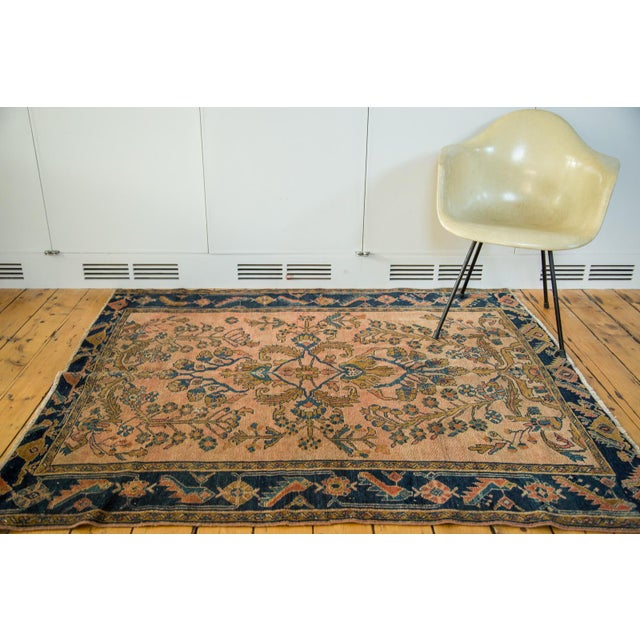 "Antique Lilihan Square Rug - 5' X 5'9"" - Image 3 of 9"