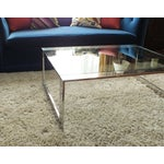 Image of Mid-Century Modern Chrome & Glass Cocktail Table