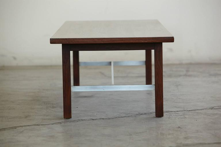 Paul McCobb Walnut And Aluminum Coffee Table For Calvin Furniture   Image 4  Of 9