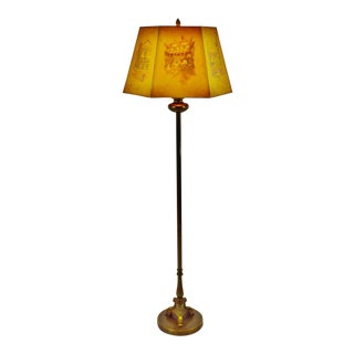 Vintage Floor Lamp with Diffuser and Clyde Cole English Inn Lamp Shade