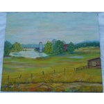 Image of Mid Century Farm Painting by H.L. Musgrave