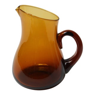 Mid Century American Modern Brown Glass Pitcher / Creamer by Pilgrim