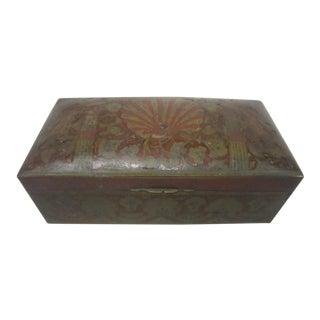 India Enameled Peacock Box