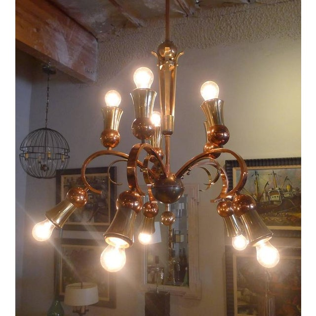 Image of Brass and Copper Chandelier