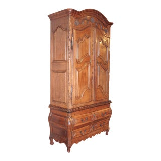 French Louis XV Walnut Armoire Pantalonniere