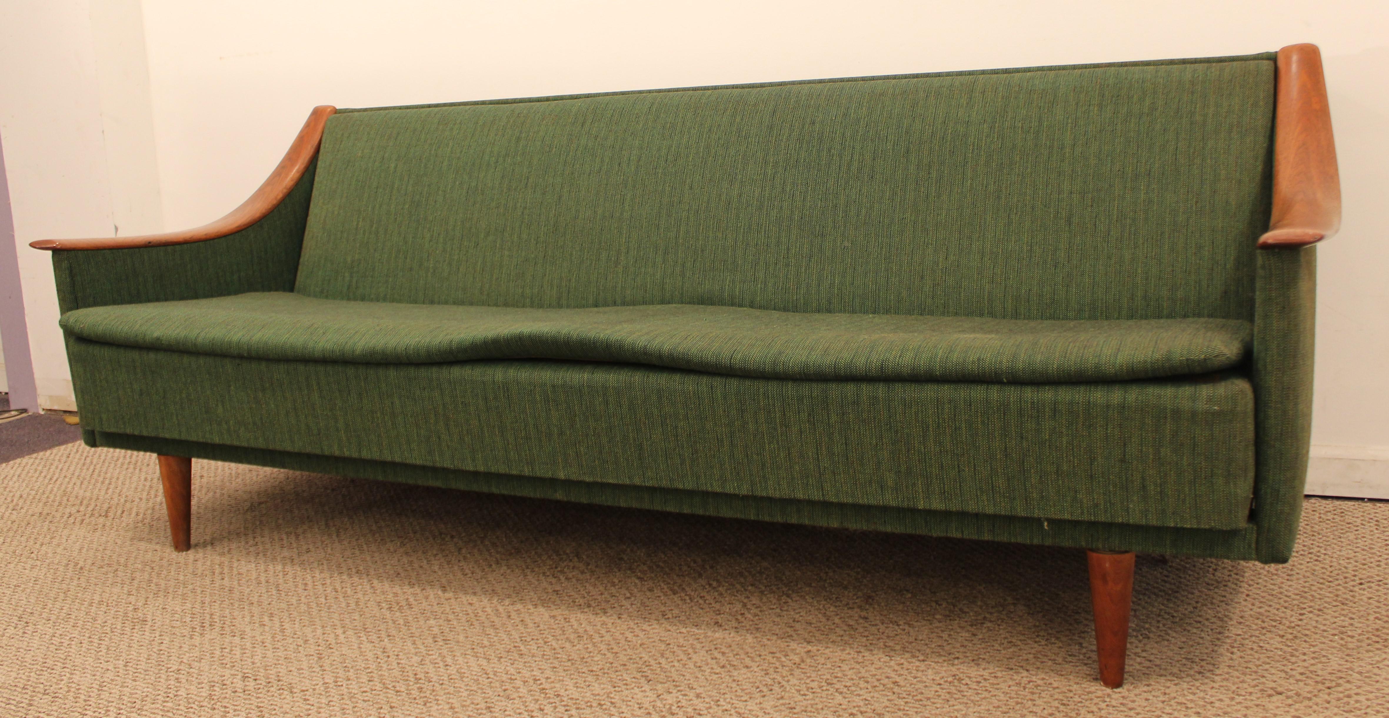Mid Century Danish Modern Adrian Pearsall Style Sofa   Image 3 Of 10