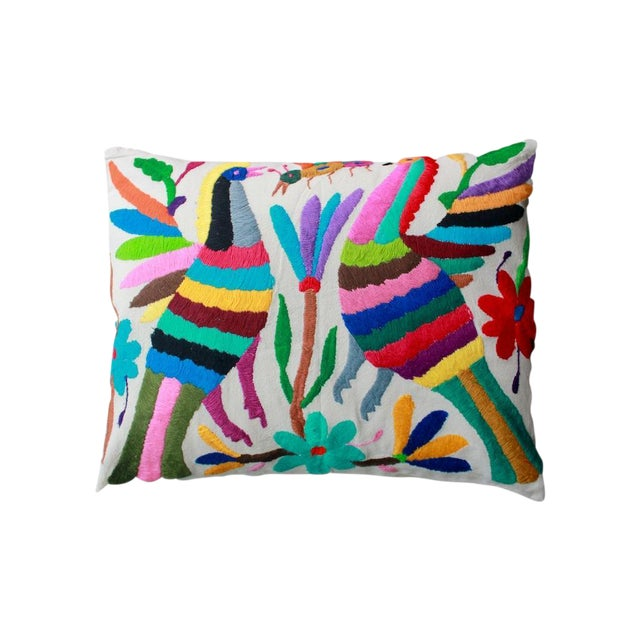 Hand-Woven Tenango Pillow - Image 1 of 3