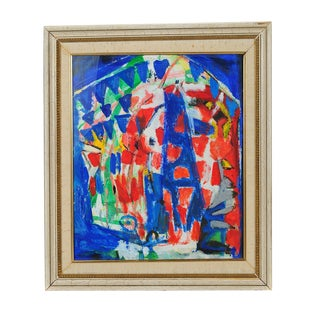 """""""Untitled Abstract"""" 1950s Modernist Oil Painting"""