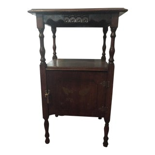 Antique Humidor Side Table