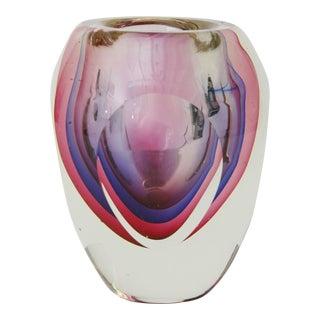 Multi-Colored Italian Glass Vase