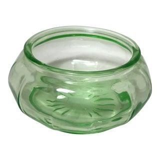 Green Depression Vaseline Glass