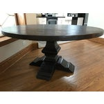 Image of Rustic Reclaimed Elm Plank Dining Table