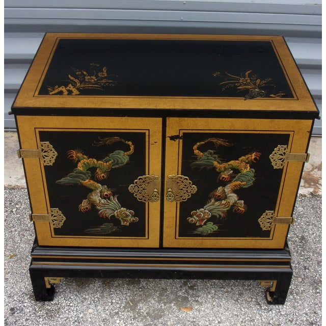 Vintage Asian Style Cabinet With Brass Hardware - Image 3 of 11