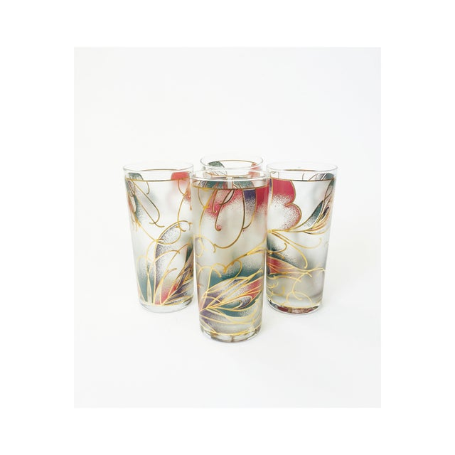 Vintage Abstract Pastel Culver Tumblers - Set of 4 - Image 2 of 6