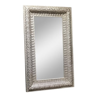 Monumental Hollywood Regency Silver Mirror