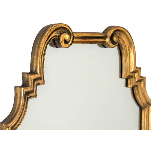 Image of Gilded Scroll Mirror