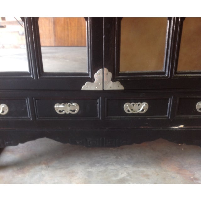 Black Lacquer Chinoiserie Cabinet - Image 7 of 10