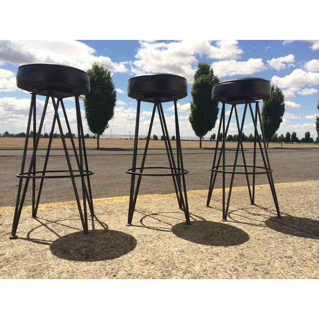 Frederick Weinberg-Attributed Bar & Bar Stools - Image 6 of 7
