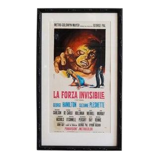 1968 Italian Movie Poster, La Forza Invisible