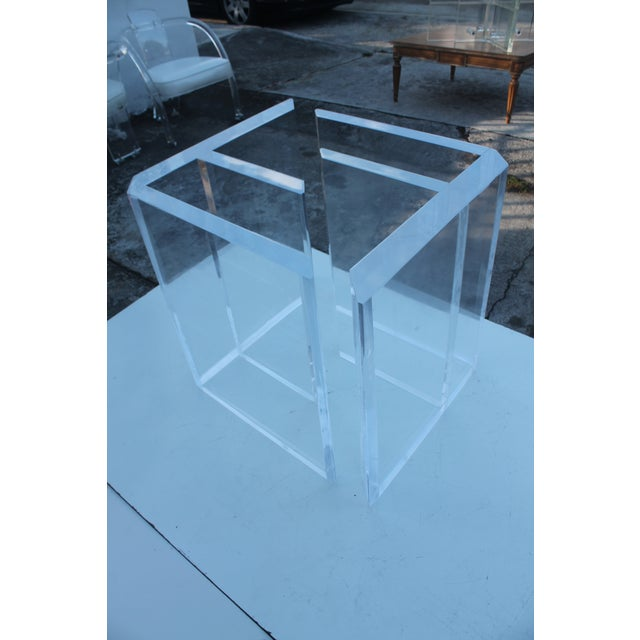 Sculptural Lucite & Glass Dining Table - Image 4 of 11