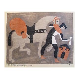 1935 British Art Deco Poster, King's Messenger