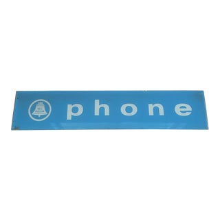 Vintage Phone Sign