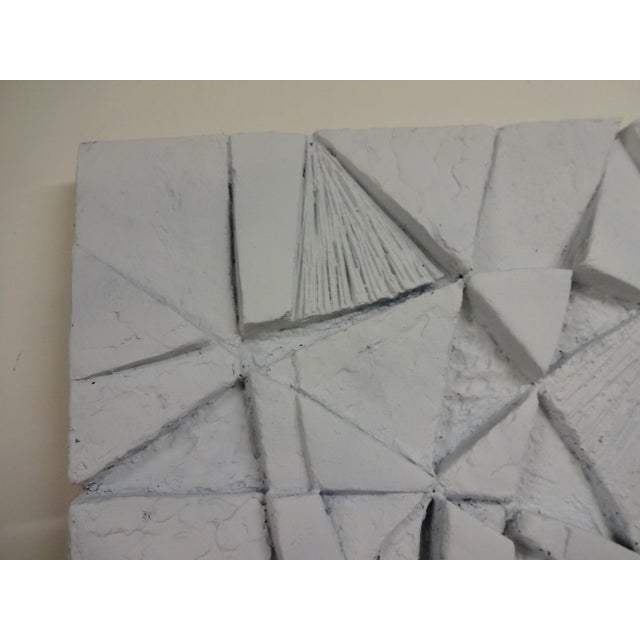 Mid-Century 3D Geometric Wall Hanging Sculpture - Image 5 of 10