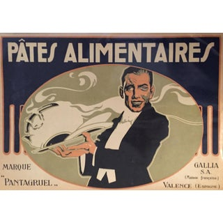 1930s Vintage Spanish Label, Waiter