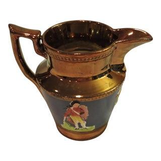 Enoch Wood Style Copper LusterWare Creamer