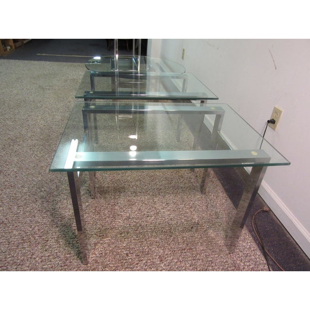 Milo Baughman Chrome Side Tables - A Pair - Image 11 of 11