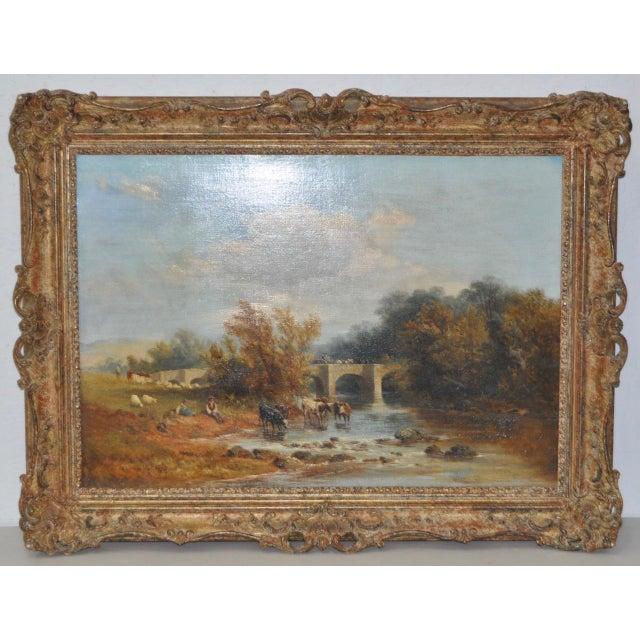 "James Baker Pyne ""Downham, Norfolk"" Original Oil Painting - Image 2 of 11"