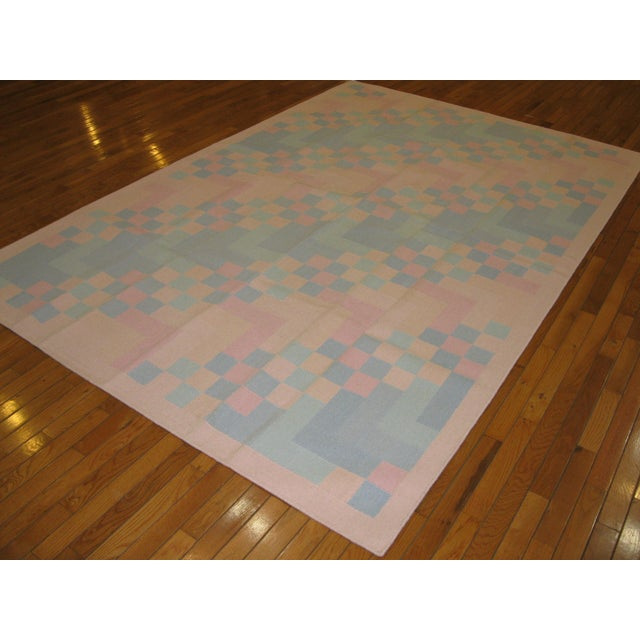 Image of Reversible Indian Dhurry Rug - 6'1'' X 9'2''