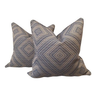 "Schumacher ""Tortola"" Marine Pillows - A Pair"