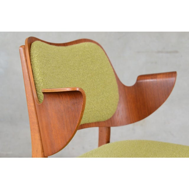 Hans Olsen Bent Teak & Oak Arm Chair - Image 5 of 8