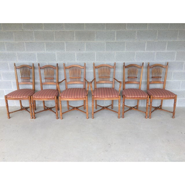Ethan Allen Maple Dining Chairs Set Of 6 Chairish