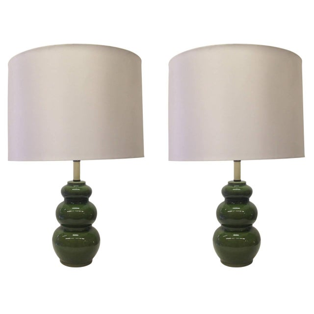 1960's Mid-Century Modern Ceramic Lamps - Pair - Image 1 of 6