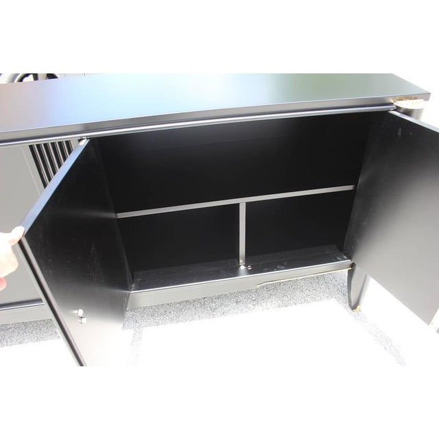 French Art Deco Ebonized Sideboard / Buffet / Bar - Image 6 of 10