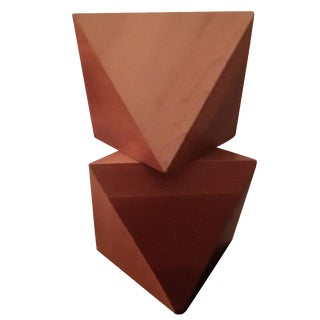 Stacked Geometric Oak Prisms