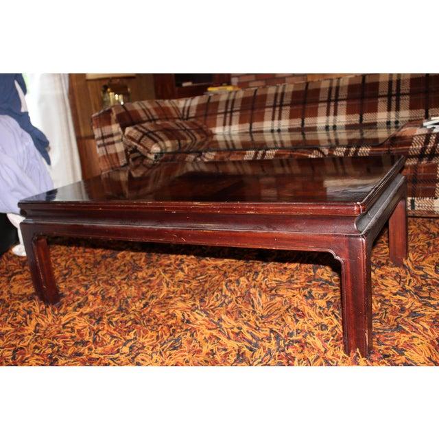 Asian Style Mid-Century Modern Wood Coffee Table