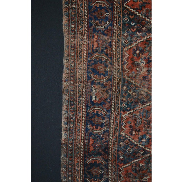 "Distressed Antique Persian Tribal Rug - 3'7"" X 4'9"" - Image 6 of 9"